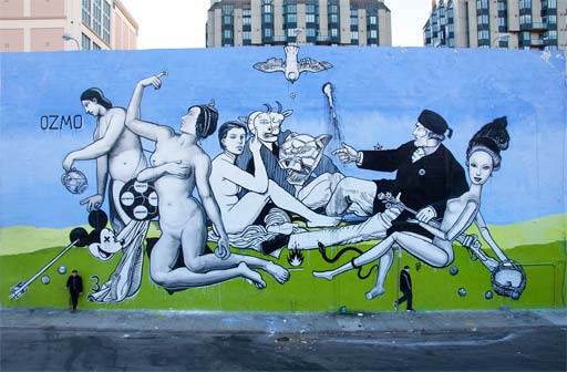 "OZMO ""Untitled"" 11x24 m Tenderloin SF - photo credit Jon Sadgilany"