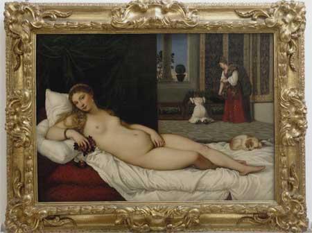 La Venere di Urbino di Tiziano