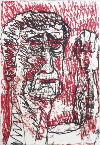 Venturino Venturi, Farinata, olio su carta, 100x70 cm, 1984, Archivio Venturino Venturi