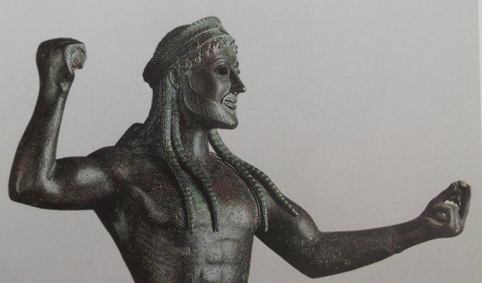 Zeus di Ugento, statua bronzea 500 a.C. circa, Museo Archeologico di Taranto