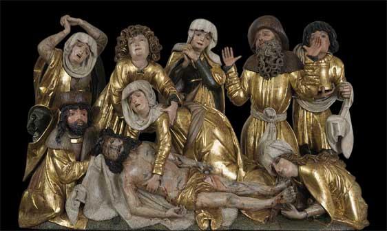 Compianto sul Cristo morto dall'altare dei Santi Giovanni, Pavol di Levoča, 1520 - Mostra Tesori gotici dalla Slovacchia