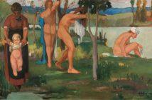 Ardengo Soffici, Il bagno, 1905, Olio su tela, cm 199x400, Collezione privata