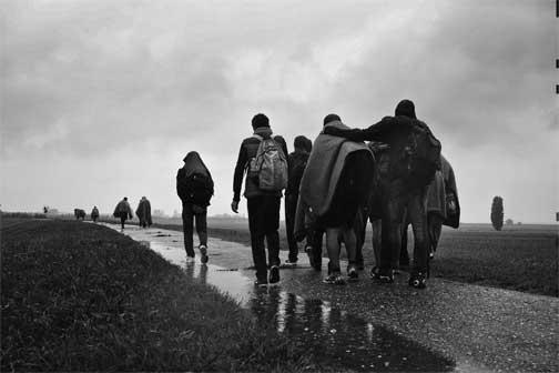 """© Andreja Restek, (Italia-Croazia) – Confine tra Ungheria e Serbia - Mostra """"In prima linea. Donne fotoreporter in luoghi di guerra"""""""