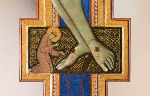 Maestro di San Francesco, Croce dipinta, 1272, tempera su tavola, cm 488x355. Perugia, Galleria Nazionale dell'Umbria