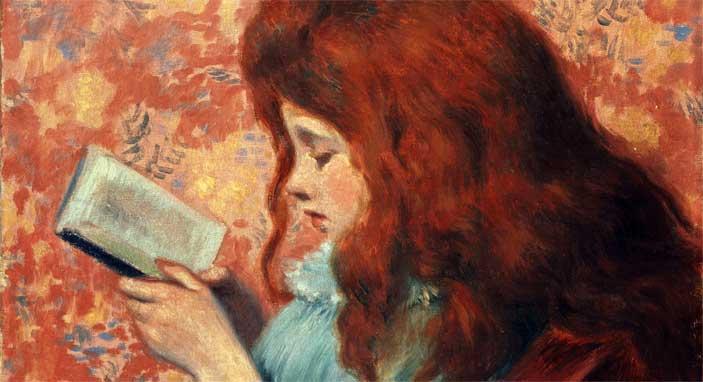 Federico Zandomeneghi, Bambina dai capelli rossi, olio su tela, cm. 38,8x46,3, Collezione privata