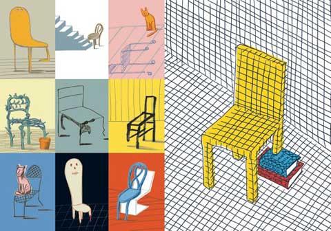 Guido Scarabottolo, Cose che non vedo - Mostra Signs. Grafica italiana contemporanea