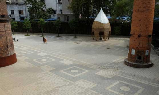 Piazza Faenza a Jingdhezen in Cina