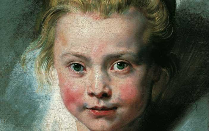 Pietro Paolo Rubens, Ritratto della figlia Clara Serena, 1615 - 1616, Olio su tela applicata su tavola, 33x26,3 cm., Vienna, Palazzo Liechtenstein - The Princely Collections