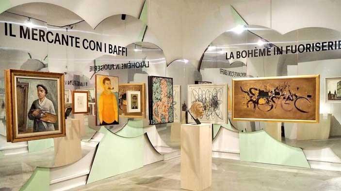 Allestimento della mostra BOOM 60 ! Era Arte moderna, a cura di Atelier Mendini ©Stefano Bonomelli