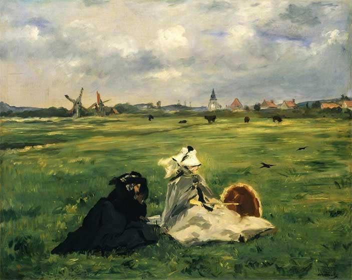 Edouard Manet, Le rondini, 1874, olio su tela, cm 65 x 81. Zurigo, Stiftung Sammlung E.G. Bührle - Mostra Storie dell' Impressionismo