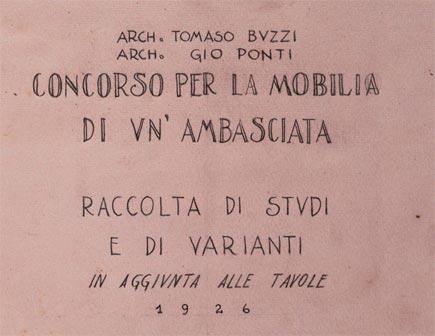 Gio Ponti - Tommaso Buzzi