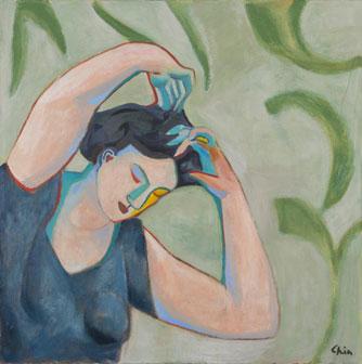 Sandro Chia, Senza titolo, 2003, olio su tela, 110 x 110 cm, Courtesy Galleria Mazzoli, Modena