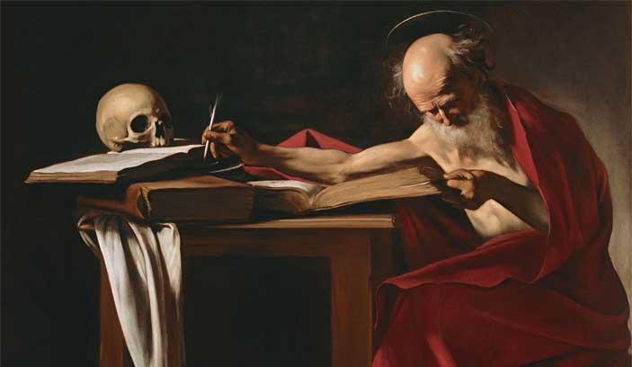 Caravaggio, San Girolamo, 1605-1606. Olio su tela, 112 x 157 cm
