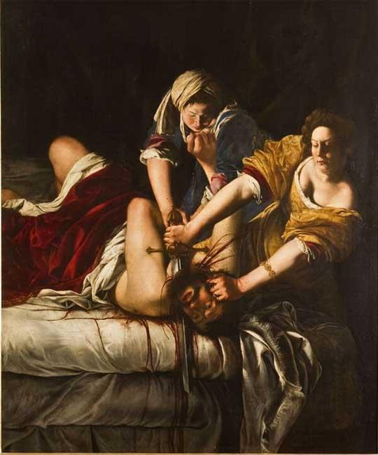 Artemisia Gentileschi, Giuditta che decapita Oloferne, 1620-21 ca. Olio su tela, 199x162,5 cm , Firenze, Gallerie degli Uffizi