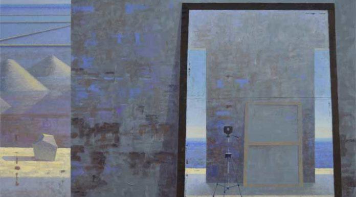 Giuseppe Modica, Atelier - salina 2016 acrilico tela cm.80x120