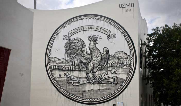 Ozmo, Grab this cock - The Raw Project, Wynwood, Miami. Foto: Arnold R. Melgar Foundation