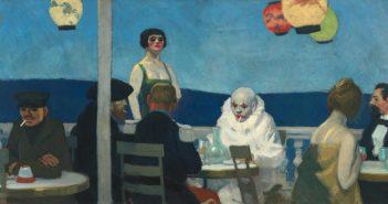 Edward Hopper, Soir Bleu (Sera blu), 1914, Olio su tela, 91,8x182,7 cm, New York, Whitney Museum of American Art - Lascito di Josephine N. Hopper © Heirs of Josephine N. Hopper, licensed by Whitney Museum, N.Y.