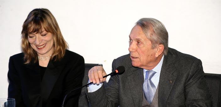 Angela Vettese, Direttrice artistica di Arte Fiera 2017, e Franco Boni, Presidente di BolognaFiere