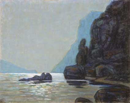Ants Laikmaa 1911-1912 Veduta da Capri - Opere della collezione Kunila