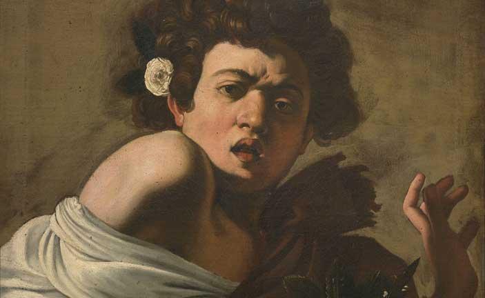 Michelangelo Merisi, detto Il Caravaggio, Ragazzo morso da un ramarro, 1595-1596 circa, Olio su tela, cm 65,8 x 52,3 (senza cornice), Firenze, Fondazione di Studi di Storia dell'Arte Roberto Longhi
