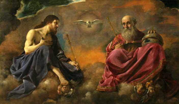 Giovanni Francesco Barbieri detto il Guercino, La Trinità, 1616-1617 circa, olio su tela, 154×262 cm