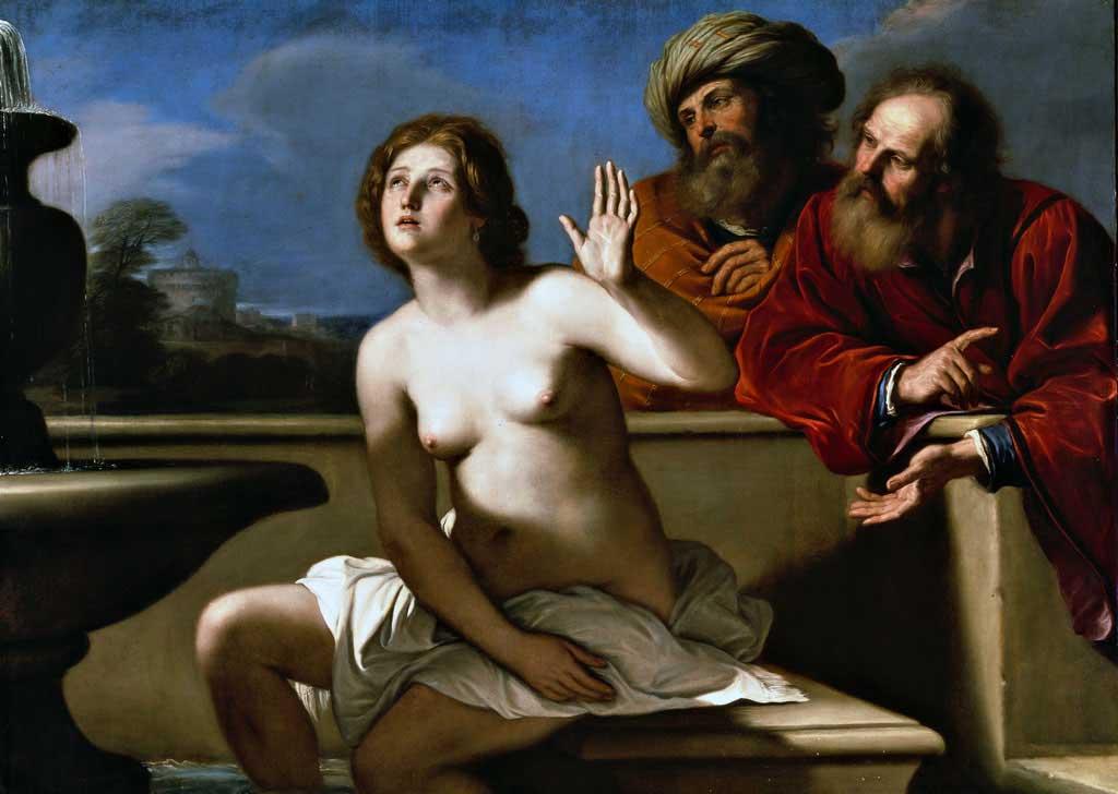 Giovanni Francesco Barbieri detto il Guercino, Susanna e i vecchi, 1649-1650, olio su tela, 133×181 cm