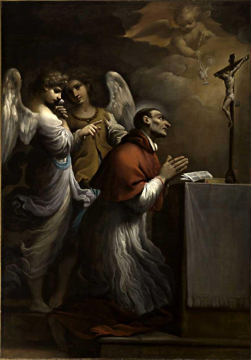Giovanni Francesco Barbieri detto il Guercino, San Carlo Borromeo in preghiera, 1614, olio su tela, 197,5×138 cm