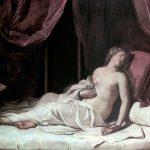 Giovanni Francesco Barbieri detto il Guercino, La morte di Cleopatra, 1648, olio su tela, 173×238 cm