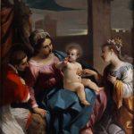 Giovanni Francesco Barbieri detto il Guercino, Sposalizio mistico di santa Caterina alla presenza di san Carlo Borromeo, 1611-1612, olio su tavola, 50,2×40,3 cm