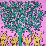 Keith Haring, Tree of Life, 1985, Acrilico su tela 152,5 x 152,5 cm Collezione privata © Keith Haring Foundation