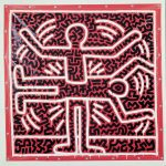 Keith Haring, Untitled, 1983, vernice vinilica su telone vinilico, 173 x 169,9 cm, Belgio, collezione privata. Courtesy Martos Gallery, New York © Keith Haring Foundation