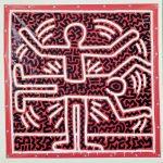 Keith Haring, Untitled, 1983, vernice vinilica su telone vinilico, 173 x 169,9 cm, Belgio, collezione privata. Courtesy Martos Gallery, New York © Keith Haring Foundation