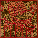 Keith Haring, Untitled, 1983, acrilico su tela, 160 x 160 cm , Collezione privata. Courtesy Galleria Lia Rumma Milano-Napoli © Keith Haring Foundation