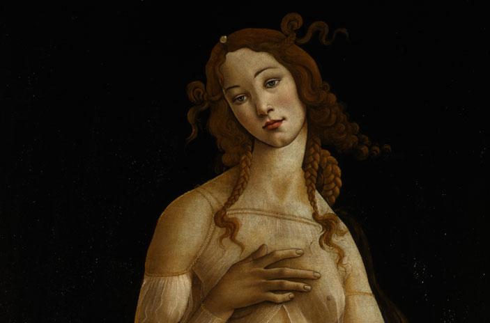 Botticelli, Venere, particolare