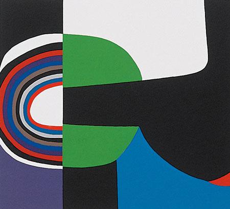 Alberto Burri, Sestante 14, 1989, Serigrafia, carta Fabriano Rosaspina cm. 49,5x63,5