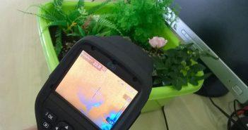 Cyberplant termocamera giardino vero finto