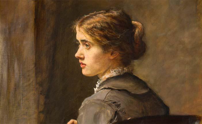 John Everett Millais, Stich! Stich! 1876 olio su tela cm 74,4 x 62 - Mostra Da Monet a Bacon