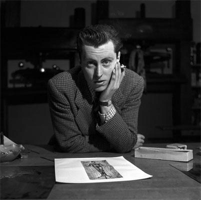 Kurt Ammann, Bernard Buffet, Parigi, 1952. Courtesy 29 Arts in Progress
