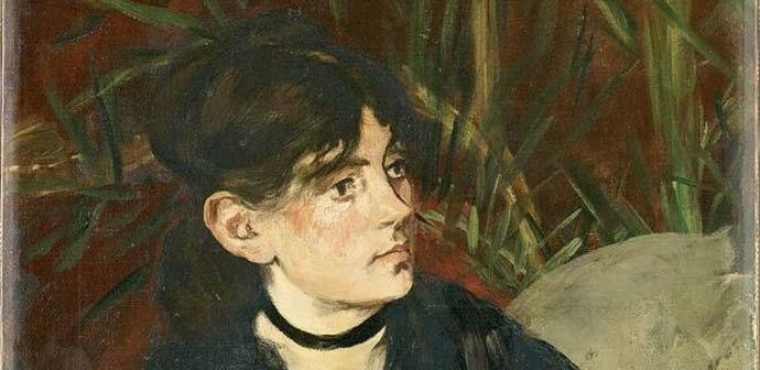 Édouard Manet, Berthe Morisot con il ventaglio (particolare), 1874, Olio su tela, 61 x 50,5 cm, Parigi, Musée d'Orsay © René-Gabriel Ojéda / RMN-Réunion des Musées Nationaux/ distr. Alina
