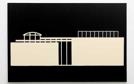 Marco Neri HSZ, 2011. Acrilico su iuta, 160 x 240 cm - Mostra a Spoleto