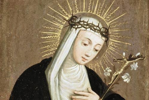 Plautilla Nelli (attribuito), Santa Caterina da Siena (particolare), olio su rame, Firenze, Gallerie degli Uffizi, Galleria delle Statue e delle Pitture, Depositi