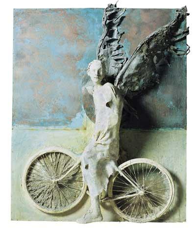 Alessandro Kokocinski, Imprimesti il segno dell'eternità, 2006, Tecnica mista vetroresina, piombo, rame su tavola, 200x 200x60 cm, Collezione Fondazione Roma , copyright: © Francesco Biganzoli
