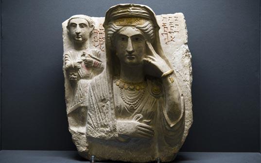 Rilievo funerario (Museo Nazionale d'Arte Orientale 'Giuseppe Tucci' Roma) - Mostra Dall'antica alla nuova Via della Seta