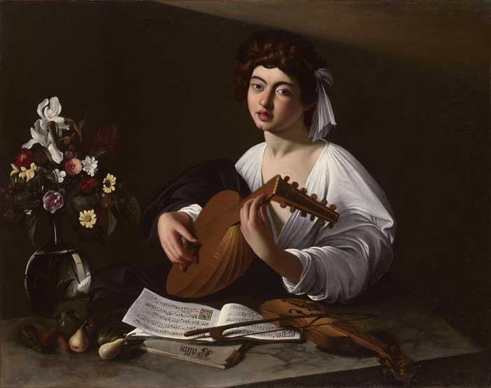 """Caravaggio """"Il suonatore di liuto"""" di Caravaggio - Celebrazioni in onore di Claudio Monteverdi"""