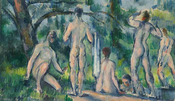 Paul Cézanne, Baigneurs, 1890-1894, olio su tela © The State Pushkin Museum of Fine Arts, Mosca