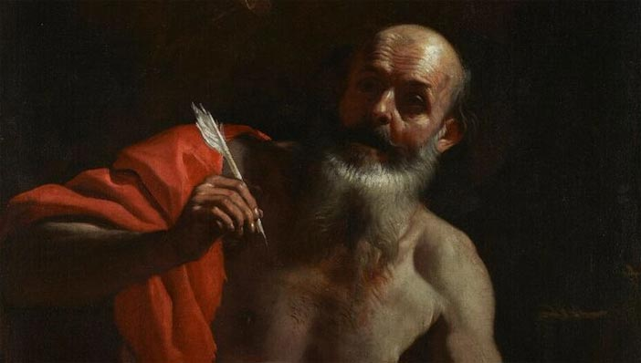 """Mattia Preti, San Jeronimo, particolare, courtesy Patrimonio Nacional - Mostra """"Da Caravaggio a Bernini"""""""