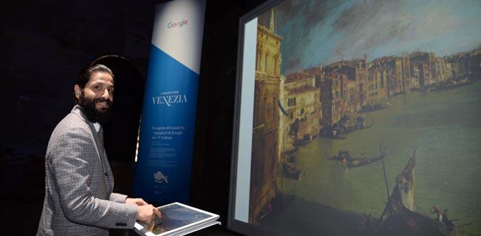 Amit Sood, fondatore e direttore Google Arts&Culture, a Venezia per la presentazione del progetto Grand Tour d'Italia