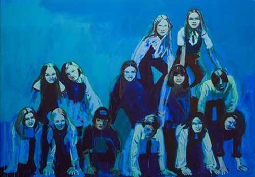 "Claire Tabouret, The Blue Pyramid - Mostra ""One day I broke a mirror"" di Yoko Ono e Claire Tabouret"