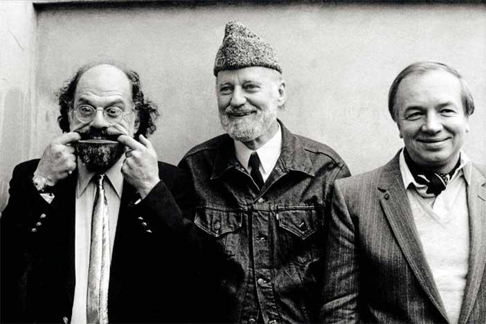 Allen Ginsberg, Lawrence Ferlinghetti, Andrej Voznesenskij, 1982 © Maria Mulas