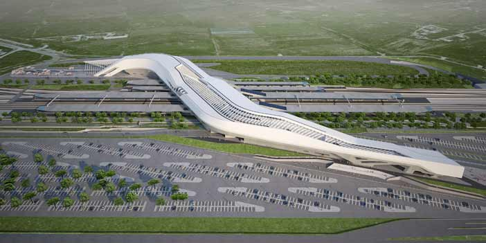 Stazione ferroviaria alta velocità Napoli-Afragola (Napoli - Italia) Render Courtesy Zaha Hadid Architects